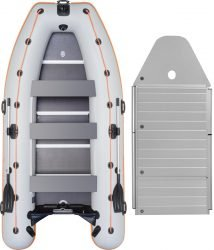 Надувная лодка Kolibri KM-400DSL-AP алюминиевый пайол