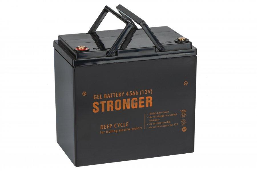 Аккумулятор для электрической якорной лебедки Stronger 45 AH 12V