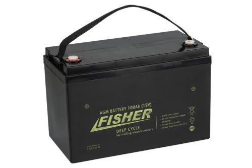 Аккумулятор для лодочного электромотора Fisher 100AH AGM