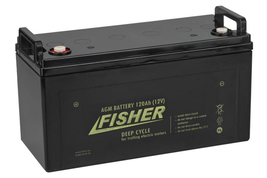 Аккумулятор для лодочного электромотора Fisher 120AH AGM