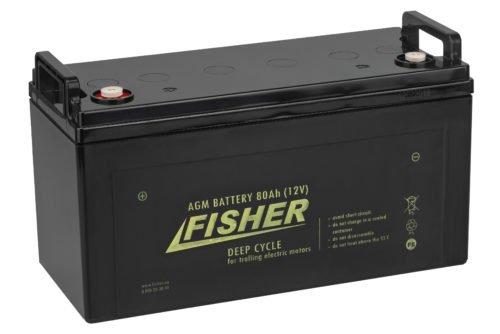 Аккумулятор для лодочного электромотора Fisher 80AH AGM