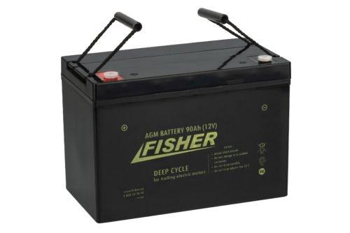 Аккумулятор для лодочного электромотора Fisher 90AH AGM
