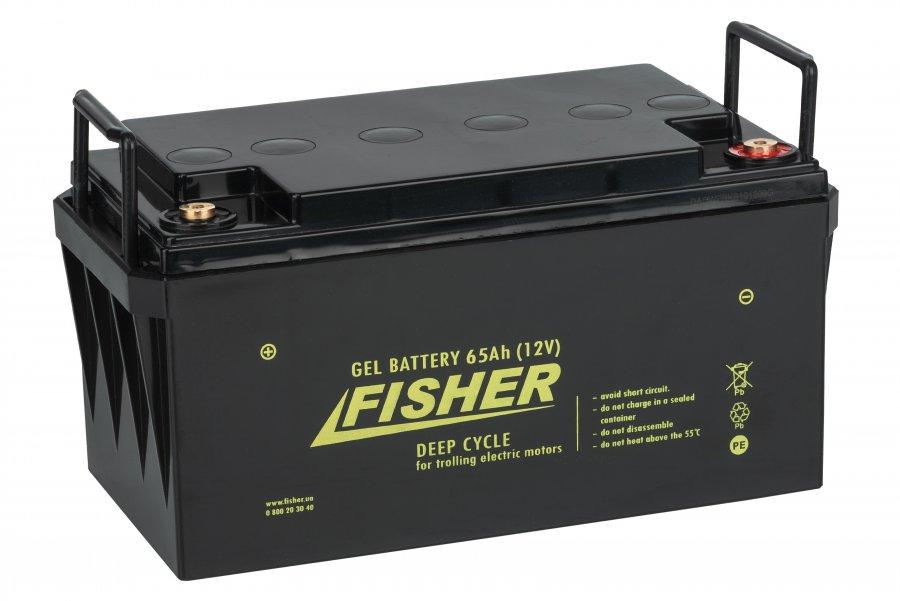 Аккумулятор для лодочного электромотора Fisher 65AH GEL