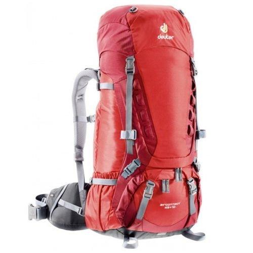 Рюкзак Deuter Aircontact, 45 + 10 л, fire-cranberry