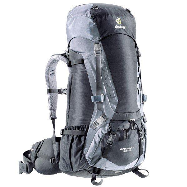 Рюкзак Deuter Aircontact, 45 + 10 л, black-titan