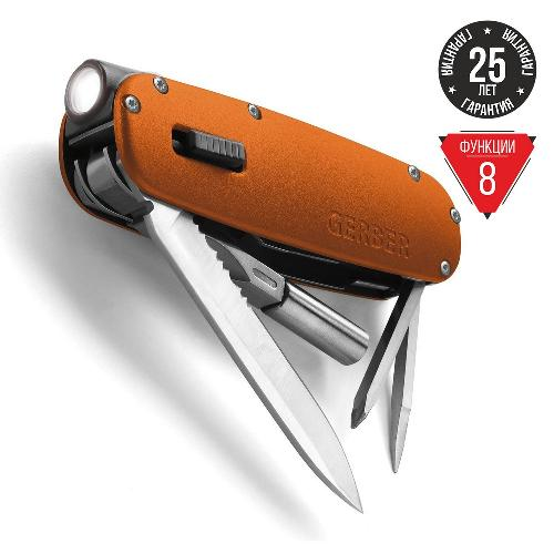 Мультитул Gerber Fit light Tool оранжевый 31-000919