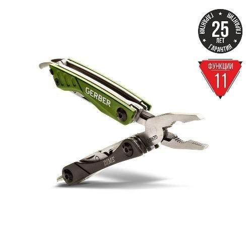 Мультитул Gerber Dime Micro Tool зеленый блистер 31-001132