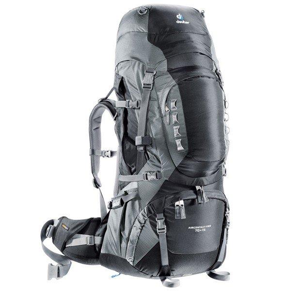 Рюкзак Deuter Aircontact PRO, 70 + 15 л, black-titan