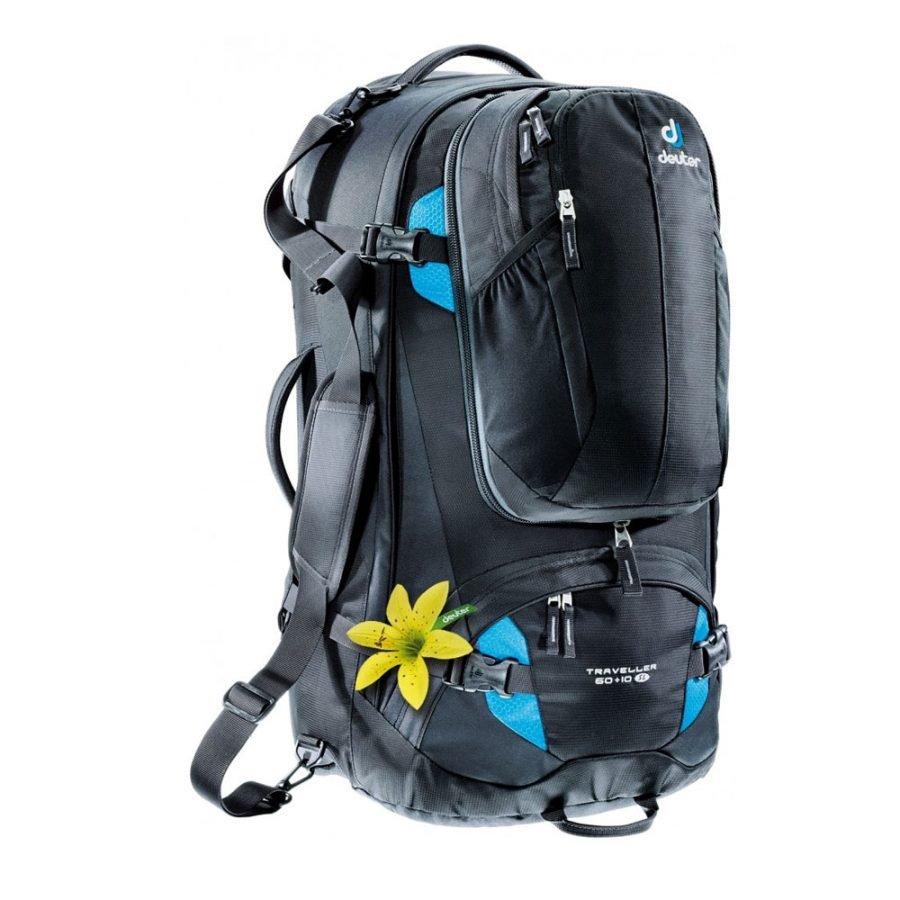 Рюкзак Deuter Traveller SL, 60 + 10 л, black-turquoise