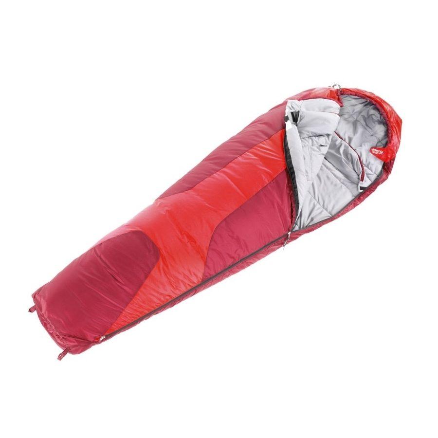 Спальный мешок Deuter Orbit 0, fire-cranberry, левый