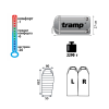 Спальный мешок Tramp Siberia 7000 черно / оранж L TRS-042-L 29268