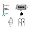 Спальный мешок Tramp Winnipeg оранжевый / серый L TRS-036-L 29292