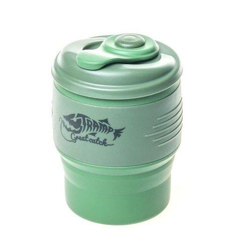 Кружкаскладнаясиликоноваяскрышкой TrampTRC-082-green