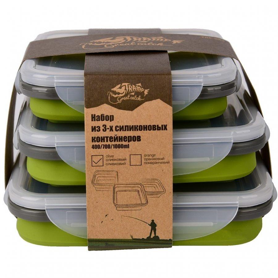 Набориз3хконтейнеровсиликоновыхTramp TRC-089-olive