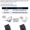 Поворотная пластина для кресла в лодку Titan Swivel MA 765-1 35644