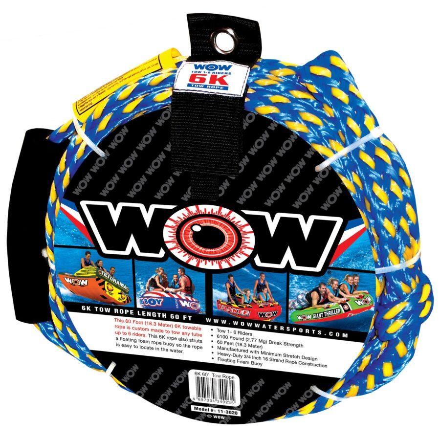 Буксировочный фал для плюшек, надувных водных аттракционов WOW 6K 60 Tow Rope 11-3020