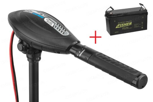Лодочный электромотор Haswing Osapian E 55 + аккумулятор Fisher 150AH GEL