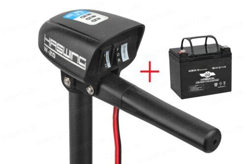 Лодочный электромотор Haswing W-20 + аккумулятор Haswing 30AH AGM H