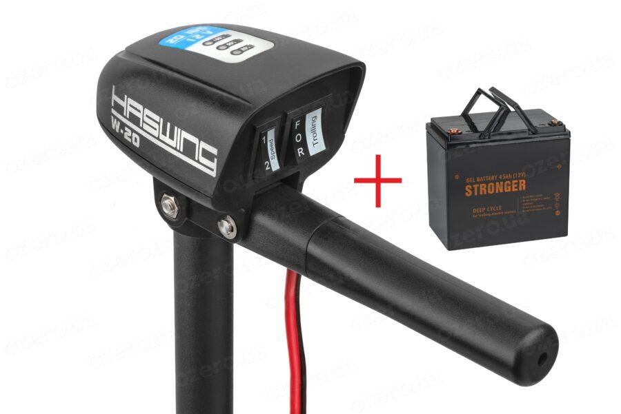 Лодочный электромотор Haswing W-20 + аккумулятор Stronger 45 AH 12V GEL
