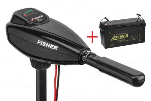 Лодочный электромотор Fisher 55 + аккумулятор Fisher 150AH GEL